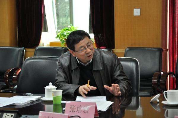 项目实施学术领导小组副组长张培震院士发言