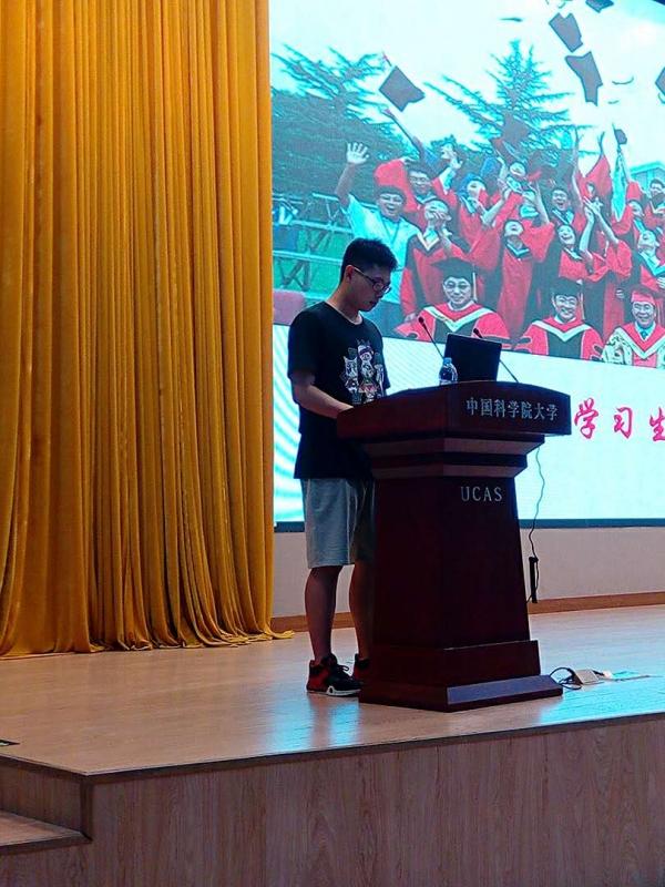 图4 新生代表李文博同学讲话