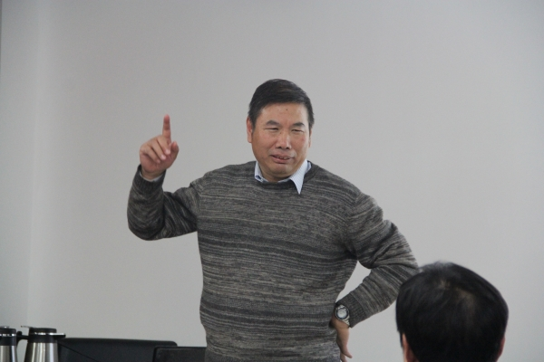 中国科学院大学地学院副院长吴福元教授做总结讲话